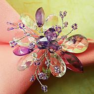 Conjunto de 12 Graceful Floral Acrílico Contas Guardanapo Ring, Dia4.2-4,5 centímetros