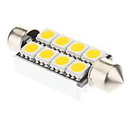 Pinol 8x5050SMD 60-100lm 3000K Warm White Light LED pære til bil (12V, 2 stk)