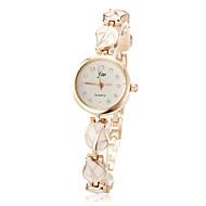 Women's Watch Leaf Pattern Alloy Bracelet