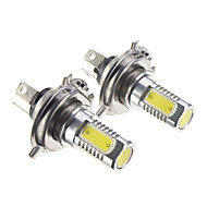 H4 7.5W Cool White Light LED Bulb for Car (12-30V,2 pcs)