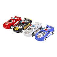 4PCS Colour Simulering Politi bil legetøj