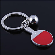 Personalized Engraved Gift Table Tennis Racket Shaped Keychain