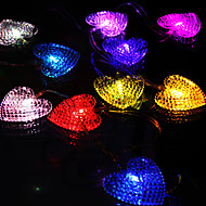 2.5m Beautiful Heart Shaped Holiday Decorations Outdoor String Lights 10-LED Lamps