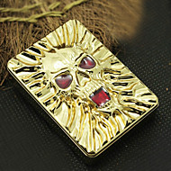 Personalized Sklull Pattern Engraved USB Electronic Lighter with Red Rhinestone