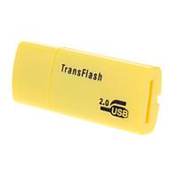 USB 2.0 Micro SD czytnik kart pamięci (żółty / czarny / niebieski)