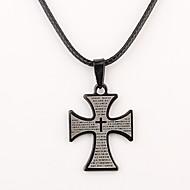 Colar gravado personalizado Cruz Negra em forma de presente