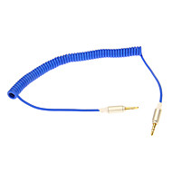 3.5mm Spring Linje audio jack-kabel (Blå 0.2m)
