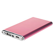 6500mAh Ultra-Thin Metal Polymeride Smart Power Bank for Cell Phones and Pads (Rose)