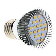 5W E26/E27 Lâmpadas Espiga MR16 20 SMD 2835 370-430 lm Branco Quente AC 220-240 V