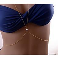 Damskie Biżuteria Łańcuszek na brzuch Łańcuch nadwozia / Belly Chain Unikalny Sexy Europejski biżuteria kostiumowa Modny Perłowy Stop