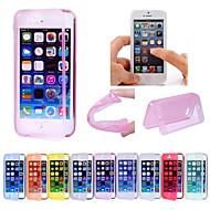 maylilandtm røre displayet bløde fuld dækning tilfældet for iPhone 4 / 4S (assorterede farver)