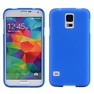 Mert Samsung Galaxy tok Jeges Case Hátlap Case Egyszínű TPU Samsung S5