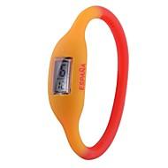 Unisex Spanien-Flaggen-Design Digital Silikon-Armband-Uhr-Fußball-Cup-Geschenk