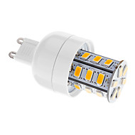 5W G9 LED Corn Lights T 24 SMD 5730 80-350 lm Warm White Dimmable AC 220-240 V