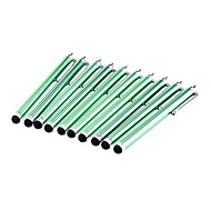 10 Deler Pakket Clip on Green Stylus Touch Screen Pen for iPad and Others