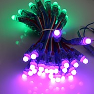 GOESWELL ™ LED Pixel String Light 50Pcs/String 12mm WS2801 DC5V RGB barev pro Channel Letter Christmas Tree