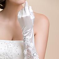 Könyökön felül Ujjbegy Kesztyű Szatén Csipke Menyasszonyi kesztyűk Estélyi kesztyűk Tavasz Nyár Ősz Tél