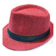 dammode brittisk gentleman linne fedora hatt