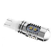 T10 5W 10x2323SMD 6000K Cool White Light LED Pære til bil (12V)