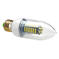 E26/E27 5 W 102 SMD 3528 550 LM Natural White C35 Candle Bulbs AC 220-240 V