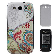 Colorful Flowers PC Hard Cover Battery Back Cover Housing for Samsung Galaxy S3 i9300