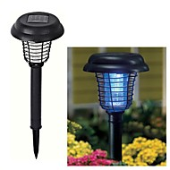 2-LED Solar Plastic Mosquito Zapper Stake Light Garden Path Lighting