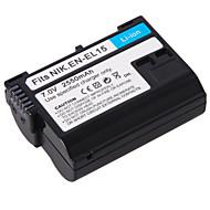 DSTE EN-EL15 vervanger 7v 2550mah Batterij voor nikon d800/d800e/d7000/d600/1v1 - zwart