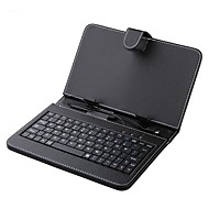Capa de Couro 7 polegadas com Stylus Teclado e Micro USB para Tablet PC