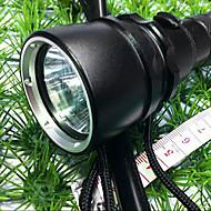 1800 LM CREE XM-L T6 LED Vedenpitävä Sukellus taskulamppu Torch (2xBattery, 1xCharger)