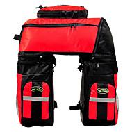 fjqxz taka laukku pyörä laukku 70L suuri kapasiteetti vedenpitävä punainen 600D polyesteri pyörä / polkupyörän laukku