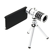 Zoom 12X Telephoto Aluminum Cellphone Lens with Tripod for iPhone 5C