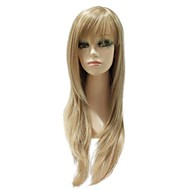 Capless Synthetic Mixed Color Long Straight Natural Straight  Wig
