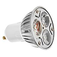 Spot Blanc Froid GU10 3 W 3 LED Haute Puissance 200 LM 6000 K AC 100-240 V