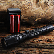 LED Flashlights/Torch / Handheld Flashlights/Torch LED 400 Lumens 1 Mode Cree XR-E Q5 18650 / AA Adjustable FocusCamping/Hiking/Caving /
