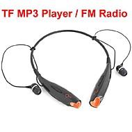 Headphone USB Neckband Sports With TF Slot FM Radio for PC
