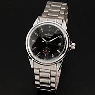 WINNER Herre Armbåndsur Mekanisk Klokke Kalender Automatisk selvopptrekk Rustfritt stål Band Luxury Sølv