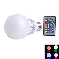 NO E26/E27 3 W 1 NO LM RGB Dimmable/Remote-Controlled Spot Lights AC 85-265 V