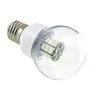 E27 4W LED 27x5730 SMD 350 ~ 400LM 5500 ~ 6000K White Light Bulb Globe με το Clear Cover (AC / DC 12V ~ 24V)