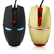 Iron Man 6D Gaming Optical Mouse 2400DPI 7 LED Colors Shift Automatically