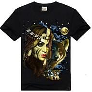 ROCKSIR®Men's Plus Size Night Light 3D Print Short Sleeve T-shirt