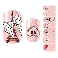 28szt różowy romantyczny Paryż projekt Stickers Nail Art