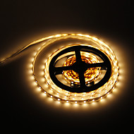 5M 24W 300x3528SMD 3000-3500K Warm White Light LED Strip Lamp (DC 12V)