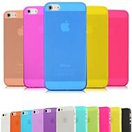 Mert iPhone 5 tok Ultra-vékeny / Jeges / Áttetsző Case Hátlap Case Egyszínű Puha PC iPhone SE/5s/5
