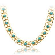 Modische Halsketten Halsketten / Statement Ketten Schmuck Hochzeit / Party / Alltag / Normal Modisch vergoldet Silber 1 Stück Geschenk