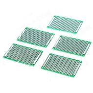 צד זוגי טין ציפוי 2.54mm DIY אב טיפוס PCB לוח מעגלים מודפס (5 PCS)
