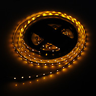 5M 24W 300x3528SMD Yellow Light LED Strip Lamp (DC 12V)