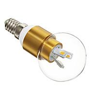 3W E14 Ampoules Globe LED 6 SMD 5730 300 lm Blanc Chaud AC 100-240 V