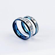 Gyűrűk Napi / Hétköznapi Ékszerek Titanium Acél Pár Páros gyűrűk5 / 6 / 7 / 8 / 9 / 10 Ezüst