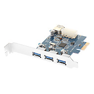 SuperSpeed USB 3.0 PCI Express (x1) (3x Ext + 1x Int) with Molex Connector (Chipset:NEC720201)
