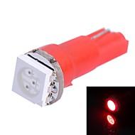 gc® T5 0.25W 14lm 1x5050smd johti punainen valo auton osoittavat lamppu (DC 12V)